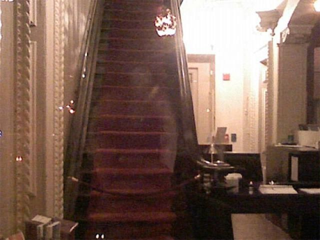 Paranormal Photo Gallery: Hull House Apparition -- I think there are two.....It looks like two heads