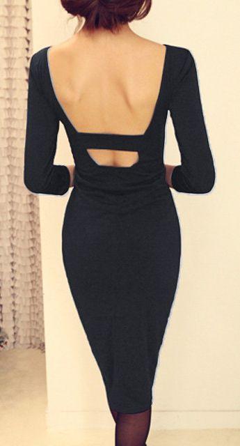 Open back pencil dress