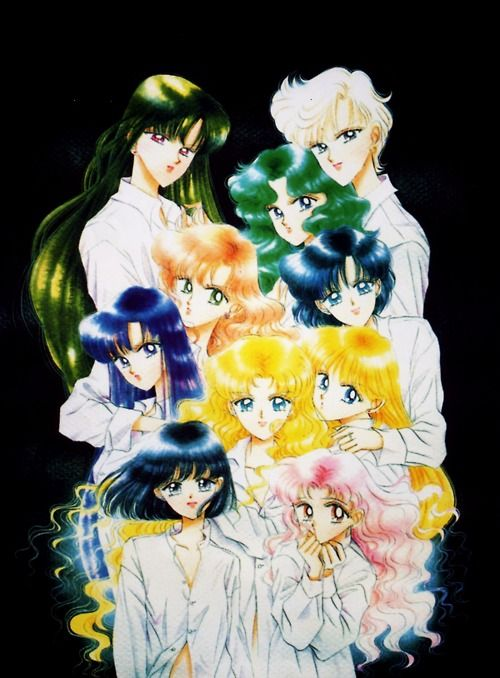 Sailor Senshi, artwork by Naoko Takeuchi for Sailormoon