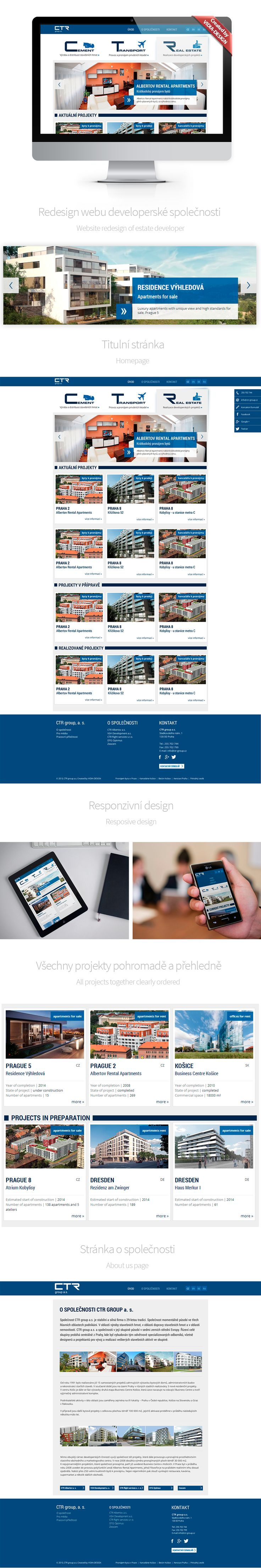 Spustili jsme nové webové stránky společnosti CTR group. Můžete se pokochat nejen developerskými projekty!  We launch new website of the CTR group company. You can not only admire the spectacular developer projects...