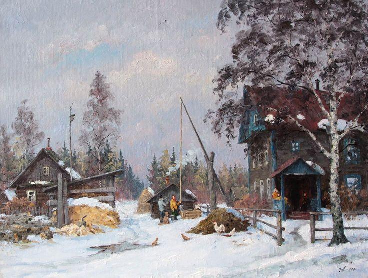 Александровский Александр. Март. Деревня Мишуково