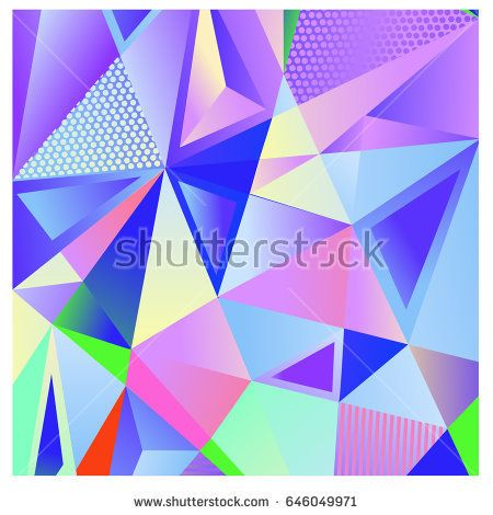 Vector of triangle geometric 3d forms. Modern info banner abstract backgrounds for poster, message presentations or identity layouts. Graphic template and ideas.