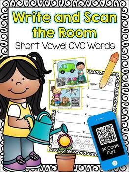 *** FREE DOWNLOAD *** Write and Scan the Room CVC #QRCodes #Daily5 Activity