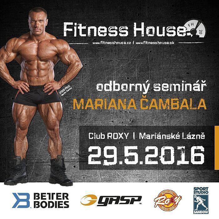 Fitness House: Pozvánka na seminář Mariana Čambala v M. Lázních.