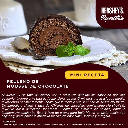 ¡La #MiniReceta que te hacía falta para tus postres! #Hersheys #Chocolate #InspiraSonrisas #Repostería #Postres #Receta #DIY #Recetario #Delicioso