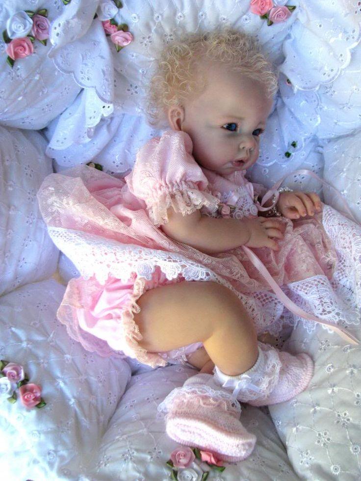 Reborn Baby Doll ...Gorgeous...love the blond hair.