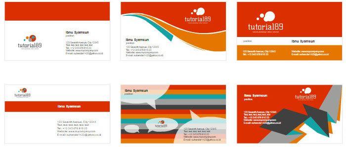 100+ contoh desain kartu nama keren | Kartu, Desain