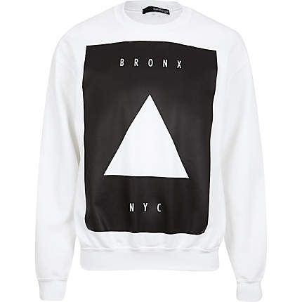White Bronx NYC triangle print sweatshirt £28.00