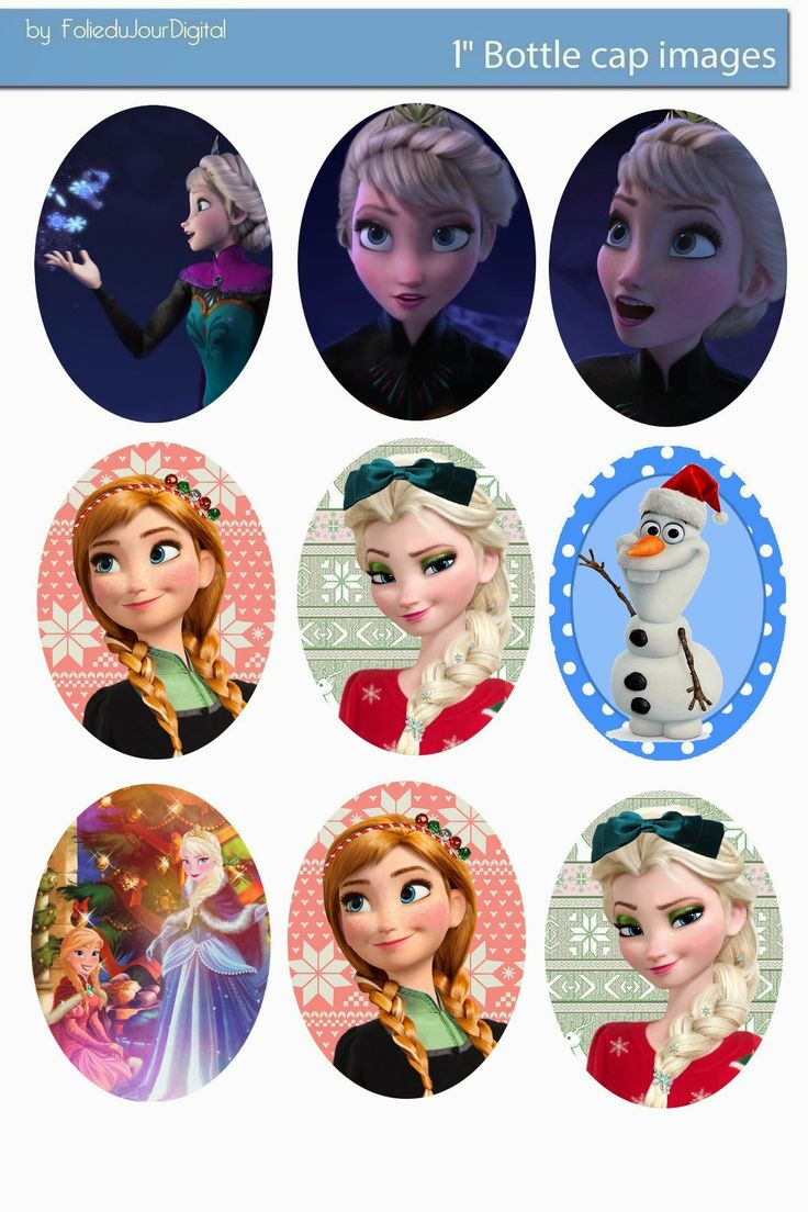 Free Bottle Cap Images: Frozen free digital oval images 30x40 and 18x25