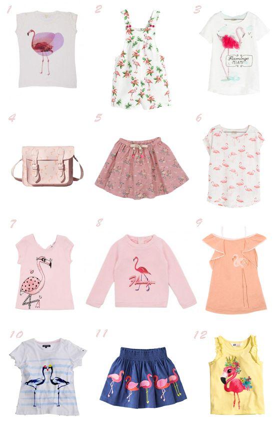 Tendencias moda niña Primavera Verano 2014 Estampado de flamencos #flamingos print
