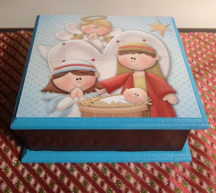 Cajas de madera decoradas navide as buscar con google - Cajas de madera decorativas ...