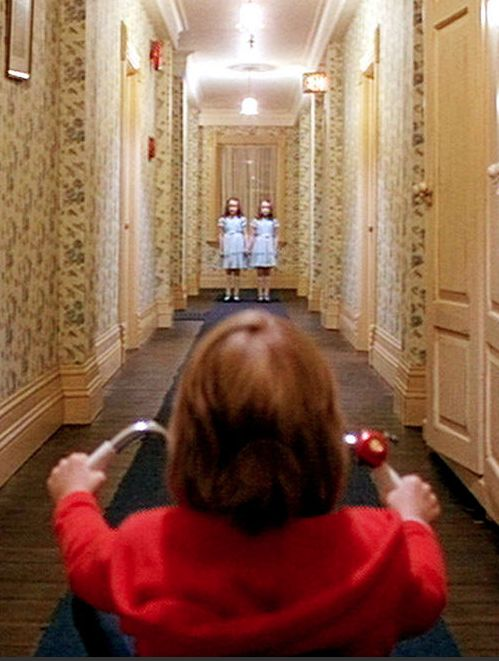 Danny. And the twins. Redrum later. The Shining. '80.