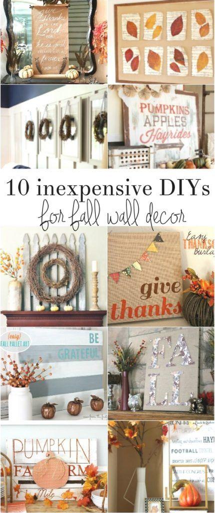 Inexpensive Fall Wall Decor