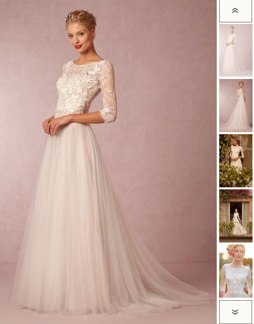 BHLDN Amelie Gown - Willowby by Watters  Wedding Dress on Sale 56% Off