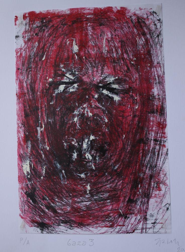 Serie Gaza # 3 Grabado sobre Papel 28x22 cm