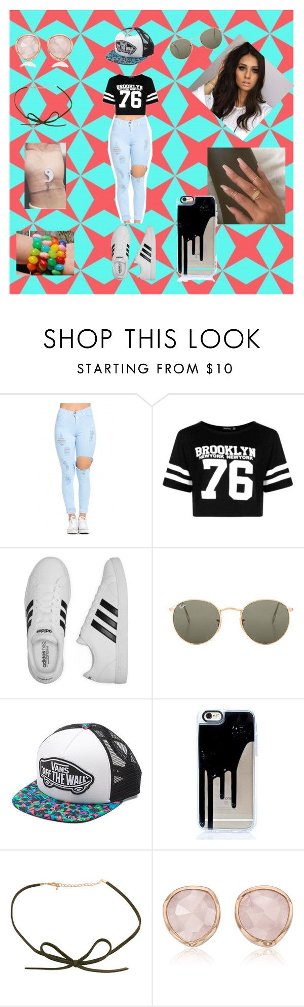 """Happy Birthday To Me!!"" by roxy-crushlings on Polyvore featuring Boohoo, adidas, Ray-Ban, Vans and Monica Vinader"