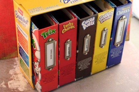 Recycling Cereal Boxes, you can see many uses