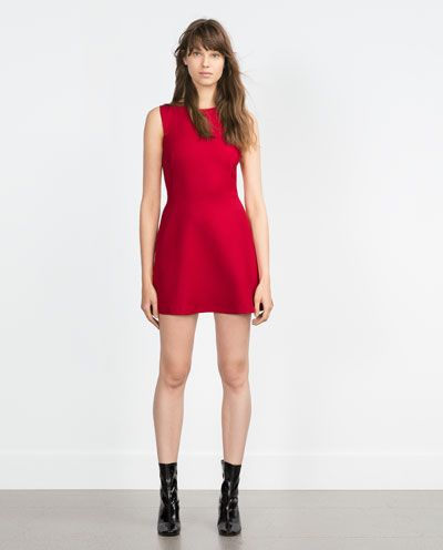 A little red dress is perfect for the holidays.