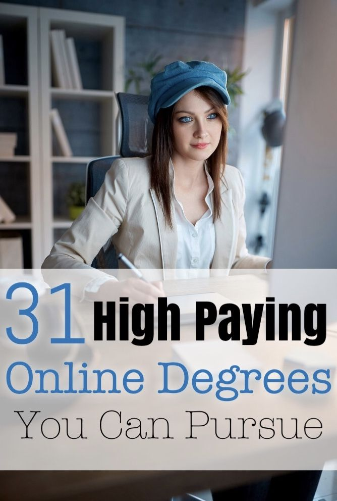 These Are The Online Degrees To Get If You Want High Pay Online