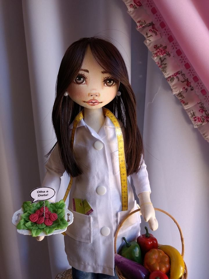 Bonecas de pano, Nutricionista. Soraia Fores.