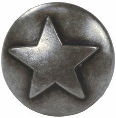 "NB-8282 Dark Silver Raised Star Upholstery Tack 1/2"" 100/pk"