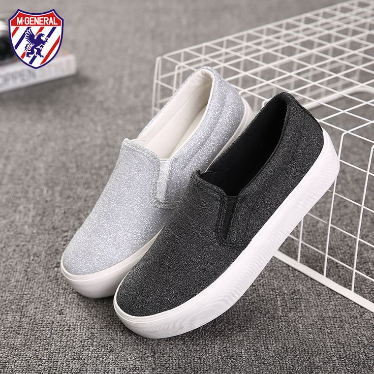 M.GENERAL Women Fashion Canvas Casual Shoes New 2016 Spring Slip-On Sequins Features Shoe Chaussures Femme Sapato Feminino M603