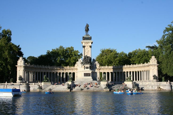 The retiro park, located in Madrid, Spain, was created as a royal park by King Philips the 4th in 1632. The park opened to the public in 1868, and is the largest parks in Madrid.
