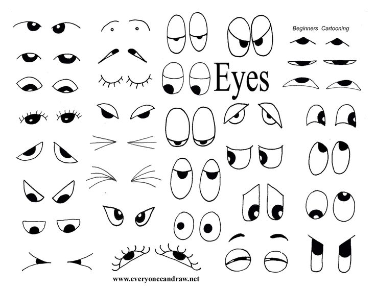 How To Draw Eye Cartoon