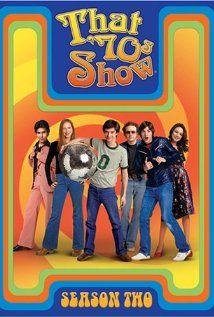 """""""That '70s Show"""" 1998-2006  Topher Grace, Laura Prepon, Mila Kunis, Danny Masterson, Wilmer Valderrama & Ashton Kutcher"""