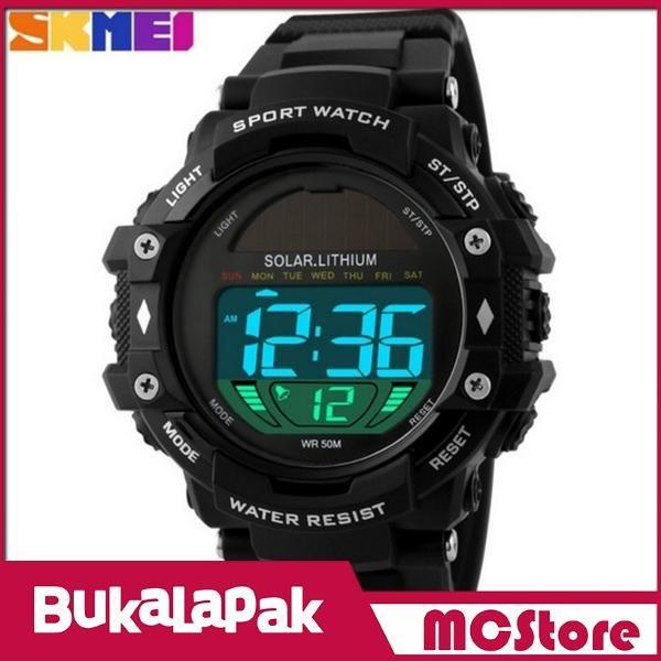 Beli MCStore Jam Tangan Pria SKMEI Solar Power Sport Watch Water Resistant 50m - DG11291 - Black dari MCStore habibwaldani - Jakarta Barat hanya di Bukalapak
