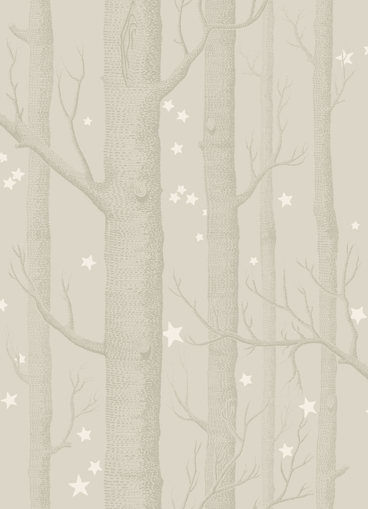 Cole & Son Whimsical Wallpaper Collection Woods and Stars in Grey  wallpaperdirect