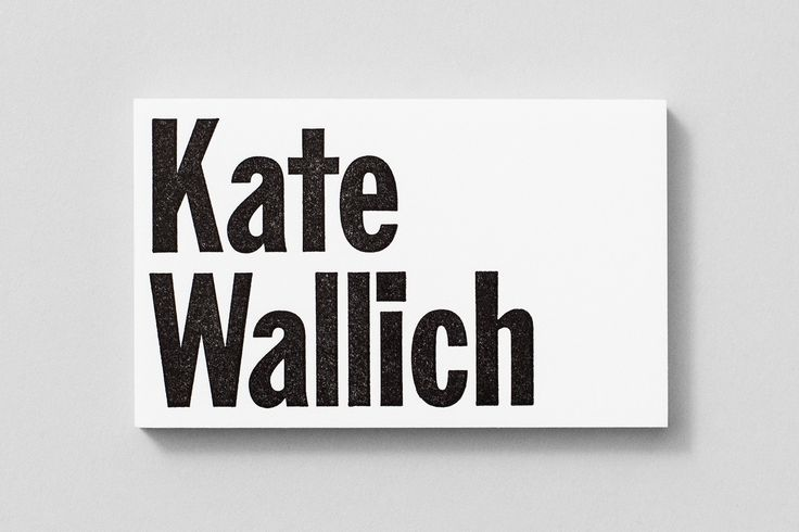 Visual identity and business card designed by Shore choreographer Kate Wallich.