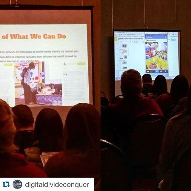 My entire week was made after seeing this. Thank you, Matt!! #Repost @digitaldivideconquer ・・・ @theuniqueclassroom and @topdogteaching both gettin' shout-outs for their excellent Insta accounts in the classroom. I'm a edtech conference, btw.