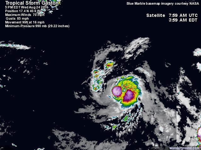 Tropical Storm Gaston 2016 Hurricane Season - Track The Tropics at ...