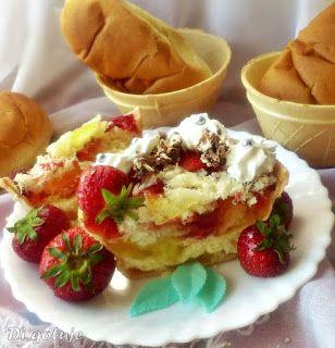 Di gotuje: Waflowe miseczki z truskawkami, galaretką i bułecz...