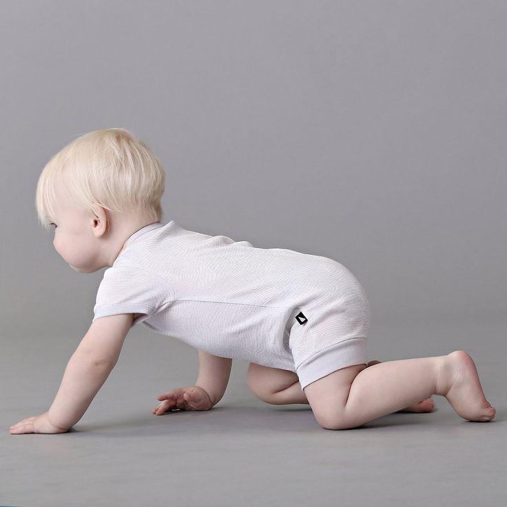 Organic baby clothing - Ethi- Etch romper grey