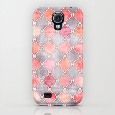 Rhythm of the Seasons - coral pink & grey iPhone & iPod Case $35.00