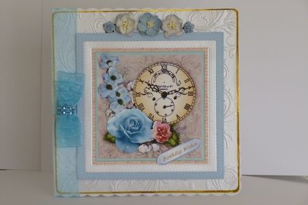 Blue Vintage Clock of Time 1 on Craftsuprint - View Now!