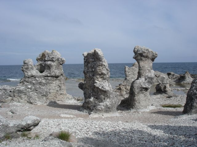 Folhammar Raukar. Gotland