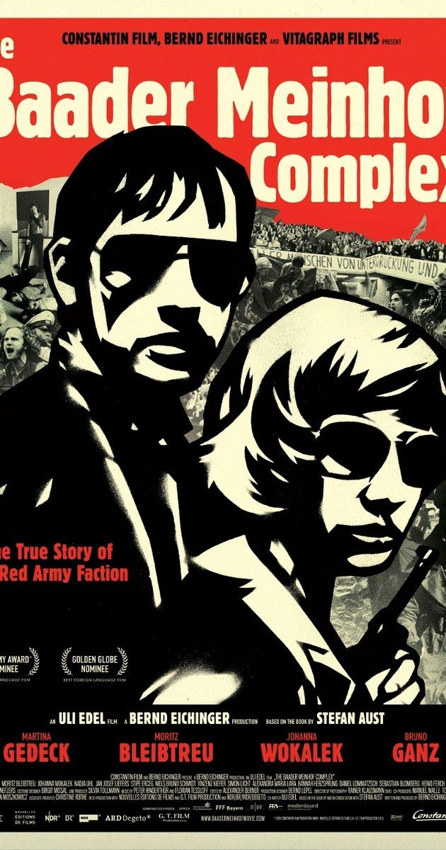 Directed by Uli Edel.  With Martina Gedeck, Moritz Bleibtreu, Johanna Wokalek, Bruno Ganz. A look at Germany's terrorist group, The Red Army Faction (RAF), which organized bombings, robberies, kidnappings and assassinations in the late 1960s and '70s.