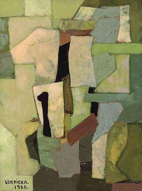 Composition abstraite, Tamara De Lempicka. American Painter, born in Poland (1898 - 1980)