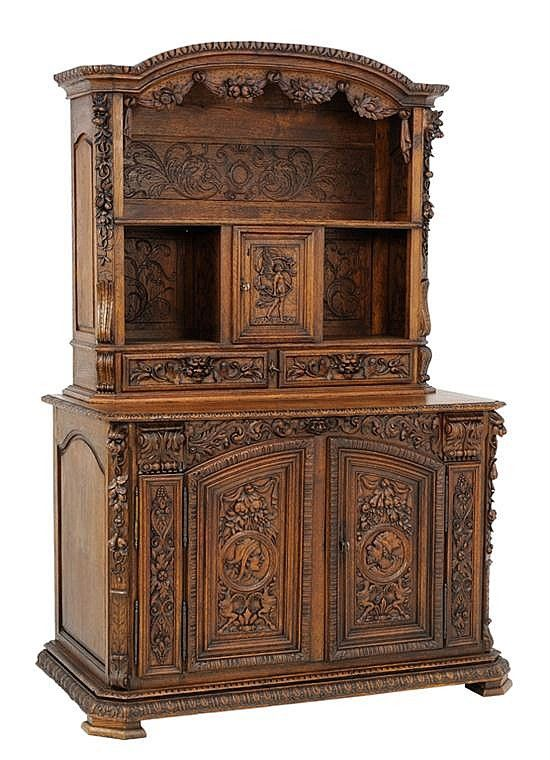 A FRENCH RENAISSANCE REVIVAL STYLE BUFFET