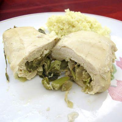 Cozinhar sem Lactose: Rolinhos de frango com alho francês e estragão