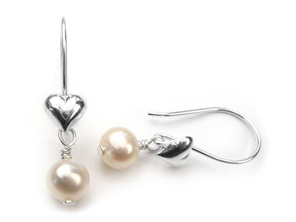Birthstone Earrings - June Pearl