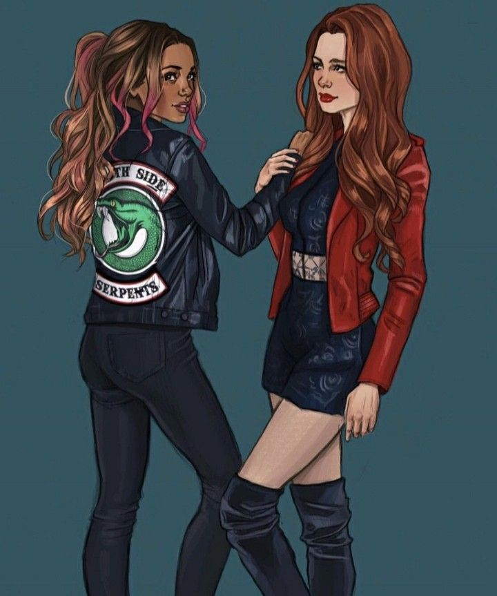 Riverdale Wallpaper Serpents: Fan Art Of Cheryl Blossom And Toni Topaz #Riverdale #Choni