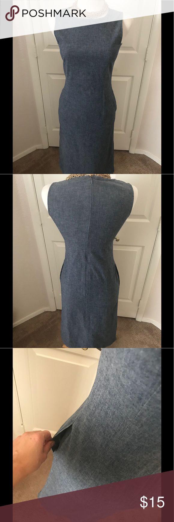 Jean dress Jean dress with pockets by UNIQLO Uniqlo Dresses Midi