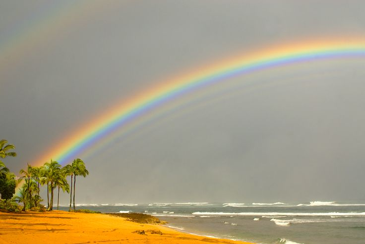 O Hawaii é um daqueles lugares que o arco iris é uma cena quase que comum..