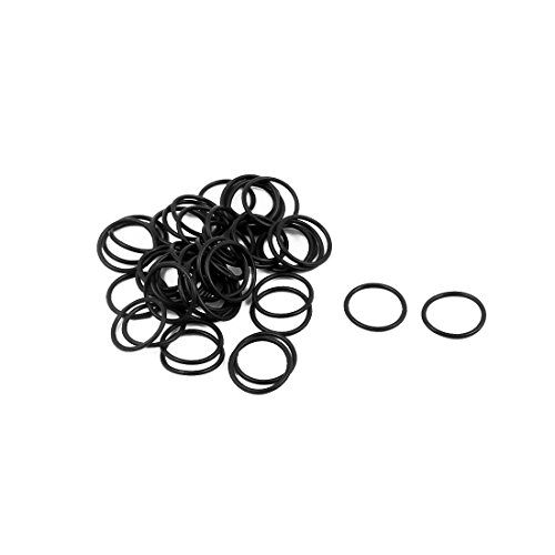 """uxcell 50Pcs Black 12mm x 1mm Nitrile Rubber O Ring NBR Oil Sealing Grommets  Color: Black; Weight: 1g  Package Content: 50pcs (+/-2%) x Nitrile Rubber O Rings; Outside Diameter: 12mm/0.47""""  Product Name: Nitrile Rubber O Ring  Material: Nitrile Rubber  Thickness: 1mm/0.04"""""""