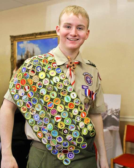 Boy scout uniform patch placement firemn chit placement
