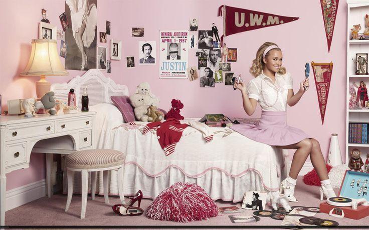 Girls Bedroom Wallpaper Kinda Luv Hayden S Pink 50 S Bedroom Dormitorios Retro